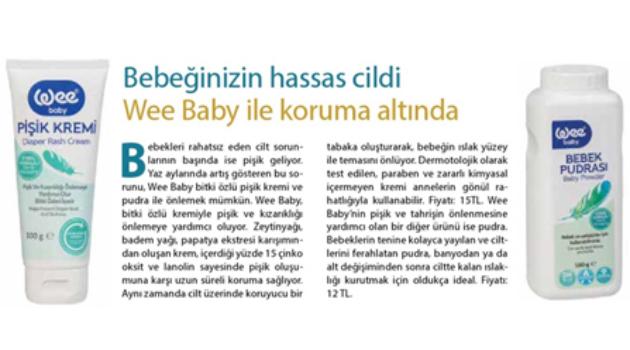 Bebeğinizin hassas cildi Wee Baby ile koruma altında