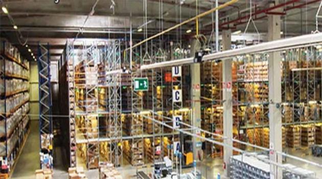Depo yönetim sistemi aracılığıyla malzeme girişleri sağlanıyor