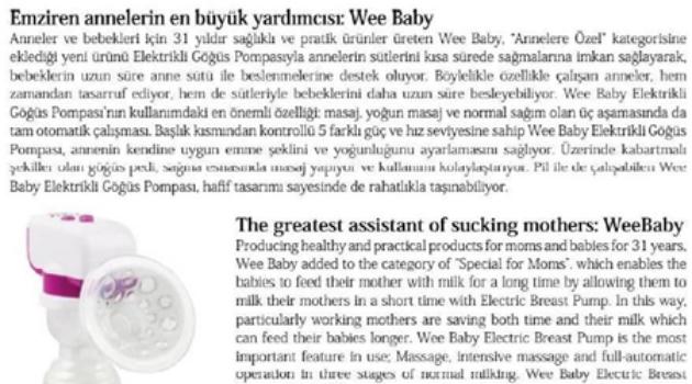 Emziren annelerin en büyük yardımcısı Wee Baby