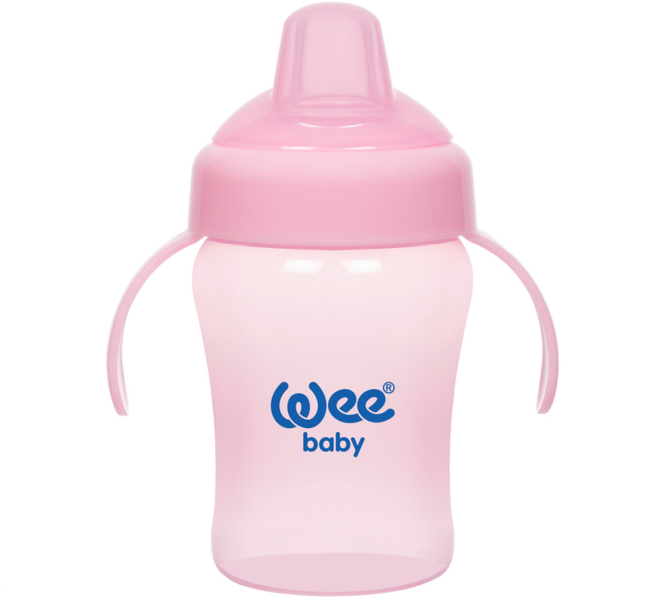 Wee Baby Colurful Akıtmaz Kulplu Antikolik Bardak 240 ml