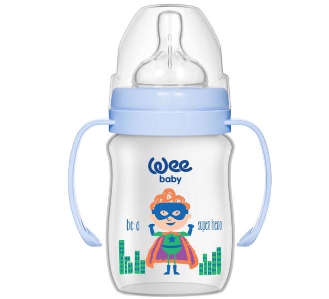 Wee Baby Klasik Plus Geniş Ağızlı Kulplu PP Biberon 150 ml
