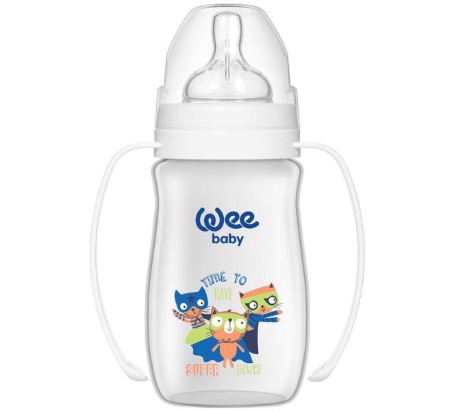 Wee Baby Klasik Plus Geniş Ağızlı Kulplu PP Biberon 250 ml