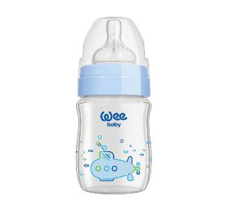 Wee Baby Klasik Plus Geniş Ağızlı Isıya Dayanıklı Cam Biberon 120 ml