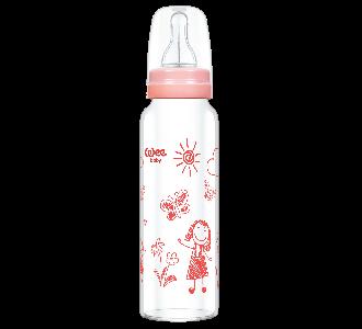 Wee Baby Klasik Isıya Dayanıklı Cam Biberon 240 ml